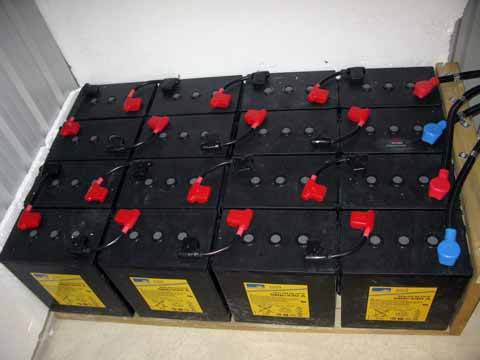 48Vdc battery bank for solar