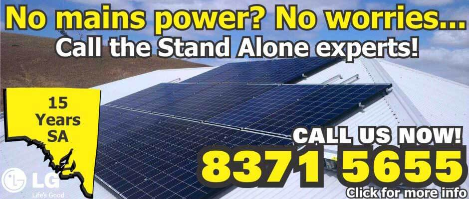 Stand Alone Solar - no worries for areas with no power